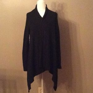 Lily Pulitzer Cashmere Black Open Cardigan